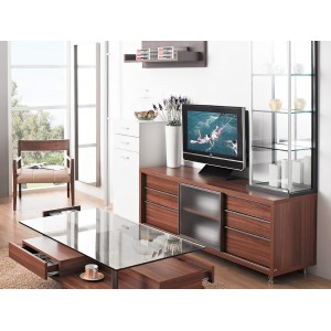 Six Drawer Medium TV Stand