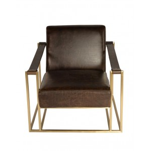 Sling Chair w Bronze Square Base