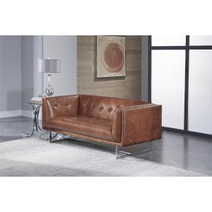 Loveseat in Vintage Cognac Leather