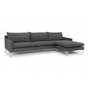 Anders Grey Fabric Sectional