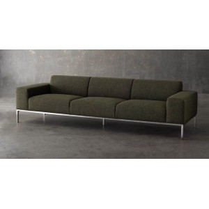 Bryce Tweed Green Fabric Sofa