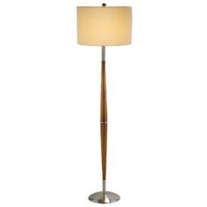 Dark Maple Floor Lamp