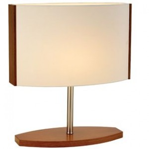 Glass + Wood Table Lamp