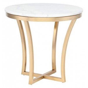 Aurora White Marble Side Table