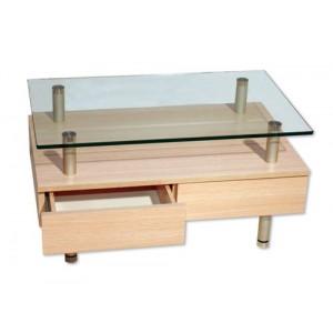 Elevated Small Glass Table