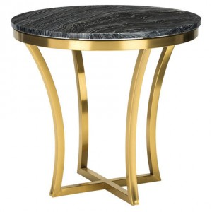 Aurora Black Marble Side Table