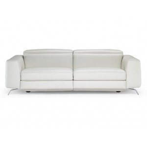 Natuzzi Editions White Leather Sofa