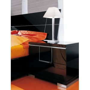 Gloss Nightstand with Two Drawers
