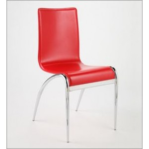 Dining Chair with Curved Chrome Legs