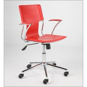 Chrome Armed Office Chair