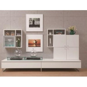Wall Shelf with Glass Door (Left Unit)