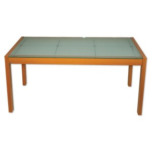 Large Frosted Glass Dining Table