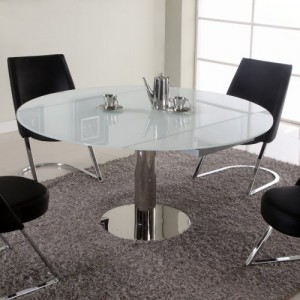 Extendable Glass Dining Table