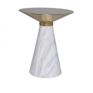 Iris White Side Table